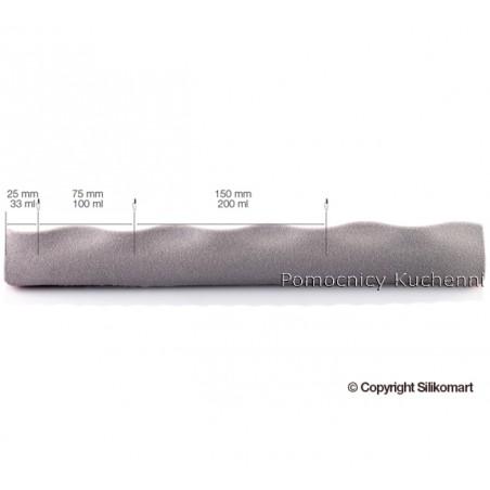 Forma silikonowa modulowa flex wave fala 1 forma po 5 gniazd poj 2000ml Silikomart Professional
