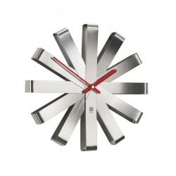 Stalowy zegar ścienny UMBRA