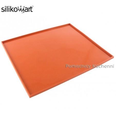 Mata silikonowa prostokątna z rantem 42 x 35 cm tapis roulade 01