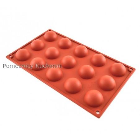 Forma silikonowa PÓŁ KULE - 15 gniazd o poj. 20 ml SILIKOMART SF005
