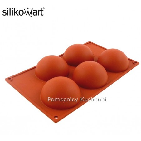 Forma silikonowa PÓŁKULE - 5 gniazd o poj. 120 ml SILIKOMART SF001