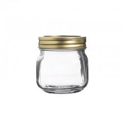 Szklany słoik z zakrętką...