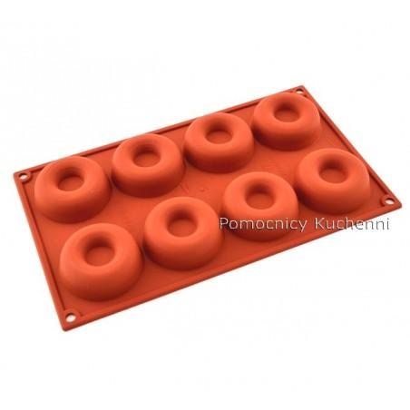 Forma silikonowa okrągłe savarin 8 gniazd poj. 50 ml SILIKOMART SF011