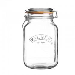 Kwadratowy szklany słój z...