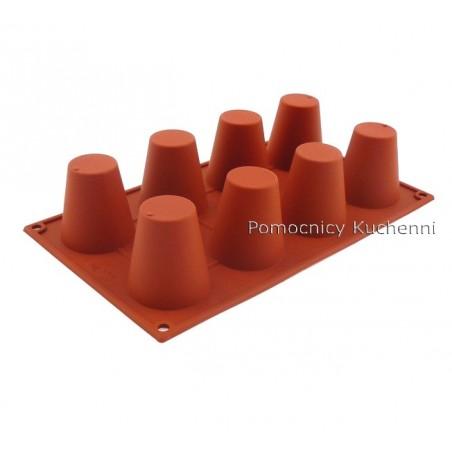 Forma silikonowa na babeczki duża baba 8 gniazd o poj 92 ml Silikomart SF021