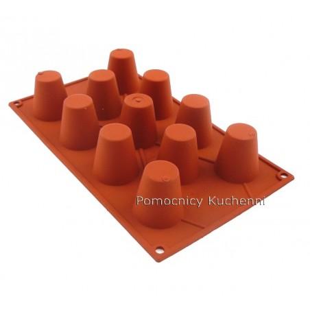 Forma silikonowa na babeczki ŚREDNIA BABA 11 gniazd o poj. 50 ml SILIKOMART SF020