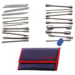 22 noże do dekoracji w etui