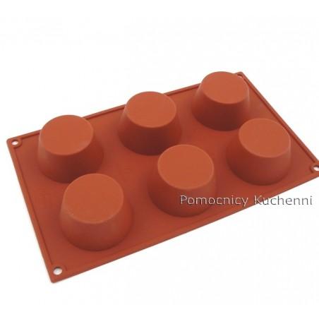 Forma silikonowa na muffinki 6 gniazd o poj . 100 ml Silikomart SF023