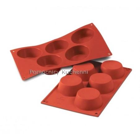 Forma silikonowa na duże muffinki - 5 foremek poj. 135 ml SILIKOMART SF024