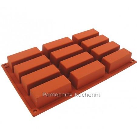 Forma silikonowa prostokąty 12 gniazd o poj. 70 ml SILIKOMART SF026