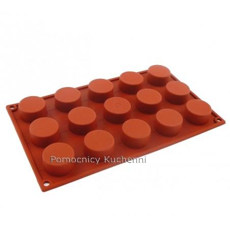 Forma silikonowa na ciasteczka bankietowe petit four 15 gniazd o poj 30 ml Silikomart SF027