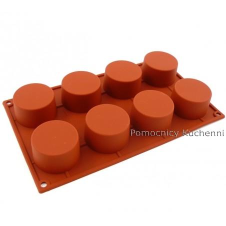 Forma silikonowa CYLINDRY 8 gniazd o poj. 90 ml SILIKOMART SF028