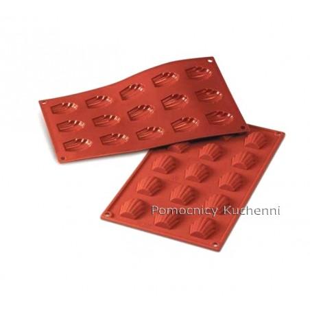 Forma silikonowa na mini madlenki, magdalenki - 15 gniazd o poj. 10ml SILIKOMART SF031