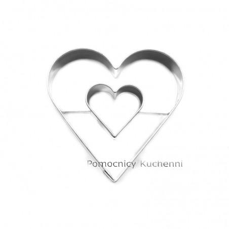 Foremka do ciastek, wykrawaczka SERCE z sercem w środku 5,5x5,5cm 9007/V
