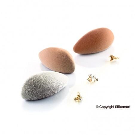 Forma silikonowa migdały QUENELLE 24 gniazd o poj. 24ml Silikomart Professional SF187