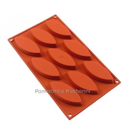 Forma silikonowa DUŻE ŁÓDKI 9 foremek poj. 40 ml SILIKOMART SF039