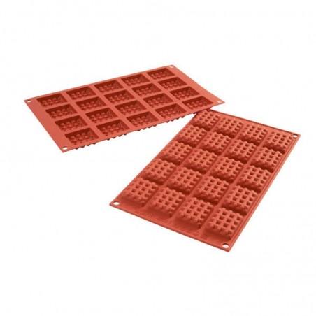 Forma silikonowa na wafelki prostokątne SF147 Silikomart