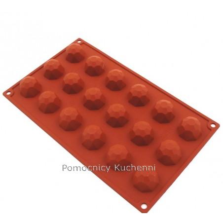Forma silikonowa DIAMENTY MAŁE 18 gniazd poj. 20 ml SILIKOMART SF048