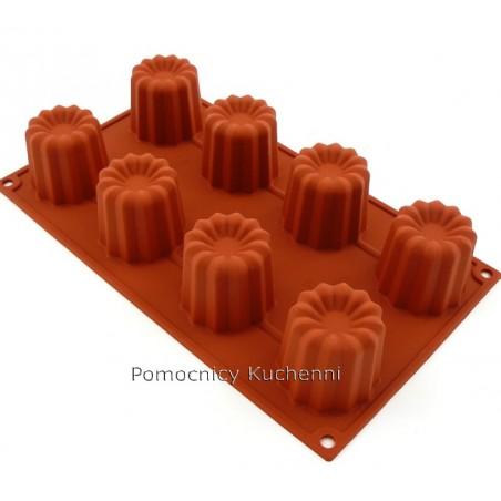 Forma silikonowa na babeczki bordelais 8 gniazd o poj.  92 ml SILIKOMART SF050 SILIKOMART