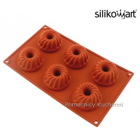 Forma silikonowa na babeczki gugelhupf 6 gniazd o poj 80 ml Silikomart SF058