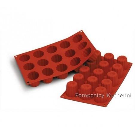 Forma silikonowa na babeczki bordelais 15 gniazd o poj. 60 ml SILIKOMART SF059