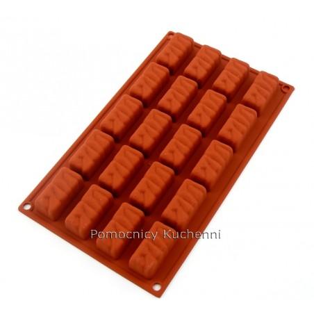 Forma silikonowa batoniki 20 gniazd o poj. 22 ml SILIKOMART SF060