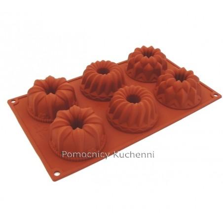 Forma silikonowa na babeczki FANTAZJA - 6 gniazd o poj. 100 ml SILIKOMART SF061