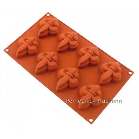 Forma silikonowa FLEUR DE LYS 8 foremek poj. 40 ml SF069