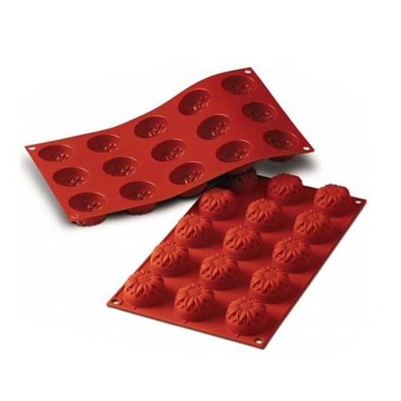 Forma silikonowa z obręczą babeczka SŁONECZNIKI MAŁE 15 foremek poj. 345 ml SF072