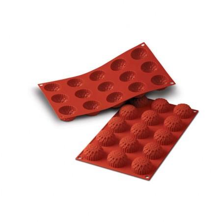Forma silikonowa z obręczą babeczka MAŁE DALIE SILIKOMART 15 foremek poj. 345 ml SF073