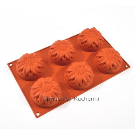 Forma silikonowa słoneczniki duże 6 gniazd o poj 115 ml Silikomart SF076