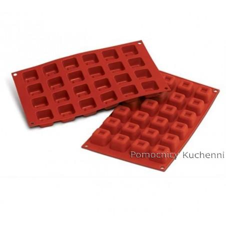 Forma silikonowa kwadraty savarin 24 gniazd o poj. 16ml SILIKOMART SF080