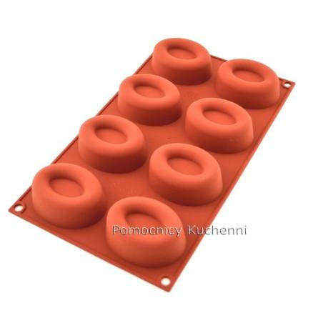 Forma silikonowa owalne savarin 8 foremek poj. 72 ml SILIKOMART SF085