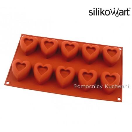 Forma silikonowa na babeczki SERCA - 10 gniazd o poj. 45 ml SILIKOMART SF088
