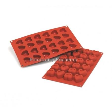 Forma silikonowa na małe serca 24 gniazd o poj 16 ml Silikomart SF089
