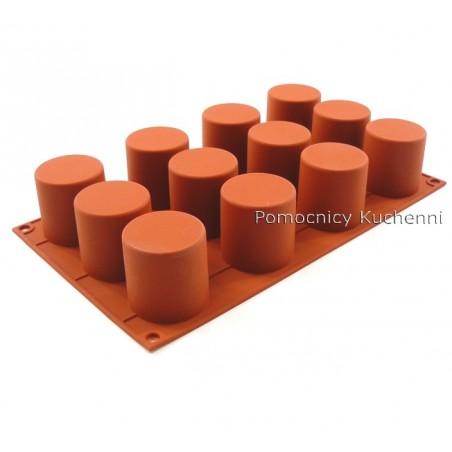 Forma silikonowa na ciasteczka cylindry 12 gniazd o poj 83 ml Silikomart SF098