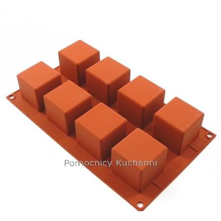 Forma silikonowa kwadraty 8 gniazd o poj 125ml 5x5cm Silikomart SF104