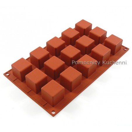 Forma silikonowa male kwadraty 15 gniazd o poj. 42 ml 3,5x3,5cm Silikomart SF105