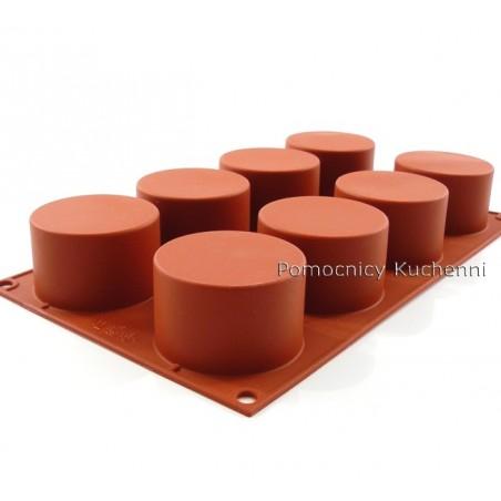 Forma silikonowa na ciasteczka cylindry 8 gniazd o poj 123 ml Silikomart SF119