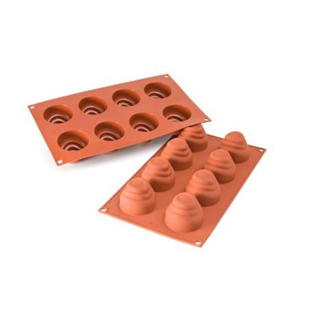 Forma silikonowa na małe FLU KOPCE 8 gniazd o poj. 70 ml SF113