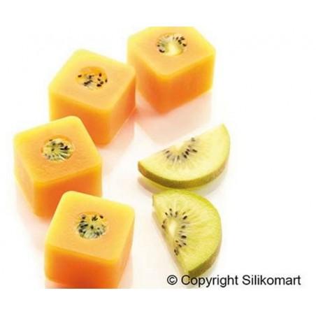 Forma silikonowa kwadraty sushi maki 15 gniazd o poj 26,3 ml Silikomart Professional sf175