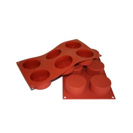 Forma silikonowa cylindry 6 gniazd o poj. 133ml Silikomart SF127
