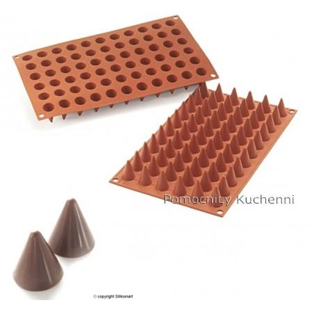 Forma silikonowa 66 rożków stożków o poj 3ml SF131 Silikomart