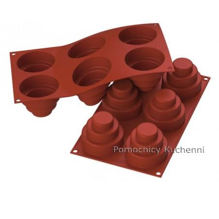 Forma silikonowa na małe TORCIKI okrągłe 6 gniazd o poj. 177 ml SILIKOMART SF148