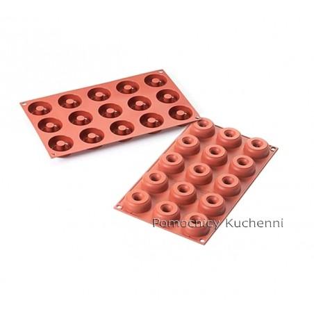 Forma silikonowa 15 paczków donuts poj 22ml Silikomart SF171
