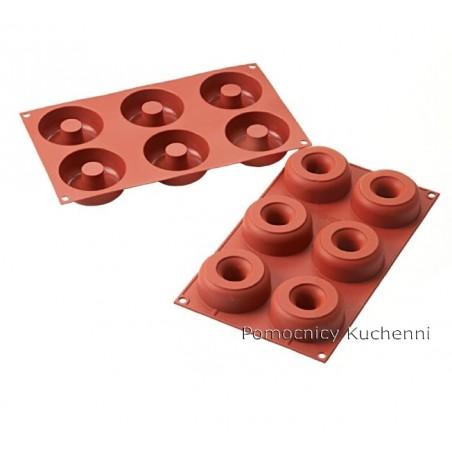 Forma silikonowa 6 pączków donuts o poj. 98ml Silikomart SF170
