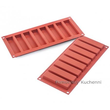 Forma silikonowa prostokąty 8 gniazd o poj 40 ml 100x26 mm Silikomart SF184