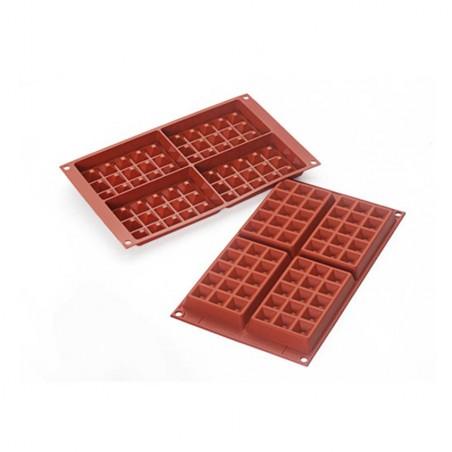 Forma silikonowa na wafle 4 gofry SF155 Silikomart