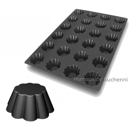 Forma silikonowa 40x60 cm BRIOCHETTE babeczki poj. 1 gniazda 84 ml SQ001 SILIKOMART