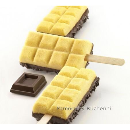 Forma silikonowa do lodów na patyku z taca i patyczkami kostki gel02 Silikomart Professional